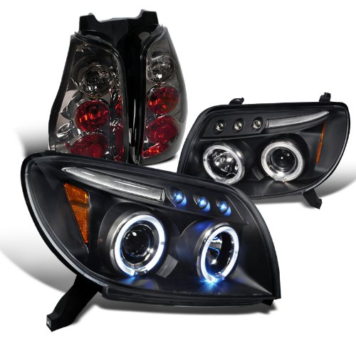 Toyota 4Runner Black Halo Projector Headlights, Smoked Altezza Tail Lights (4runner Projector Headlights)