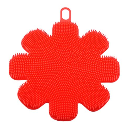 - Amiley Food-grade Antibacterial Silicone Dish Washing Sponge Scrubber Kitchen Cleaning antibacterial Tool for Kitchen Wash Pot Pan Dish Bowl / Wash Fruit and Vegetable (Red)