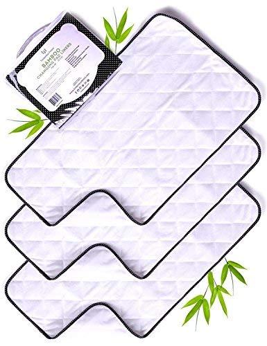 Cambiador de bebe-Tapetes Impermeables para Cambiador de Pañales-Forros de Bambú
