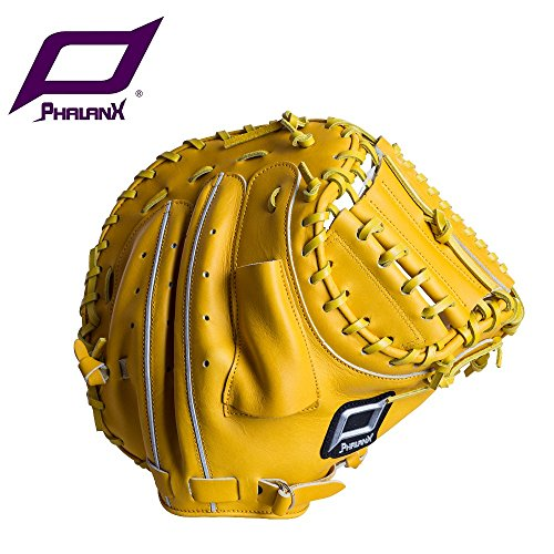 PHALANX / Silver Glove /Catcher Mitt / Pro Preferred / 34 in / Two-Piece Closed Web/ Yellow /Right Hand (Preferred Baseball Catchers Mitt)