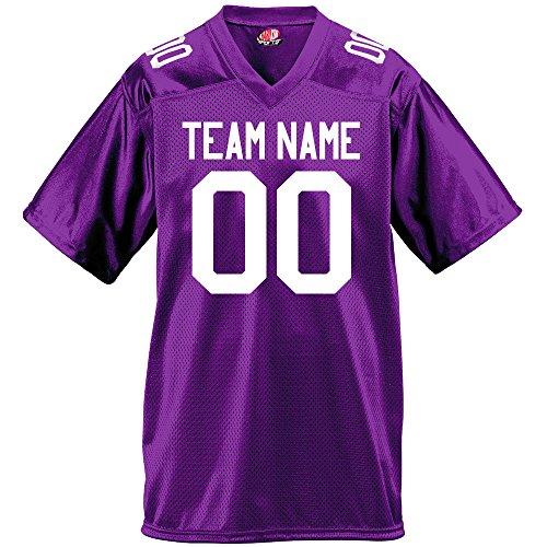 Gameday Mens Fan Wear Custom Football Jersey Adult 2X-Large in Purple -