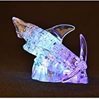New 3D 40PCS Lighting Shark Crystal Blocks Puzzle to Hold Blocks By KTOY