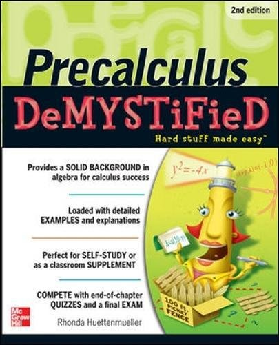 Pre-calculus Demystified, Second Edition (Best Computer For Interior Design Student)
