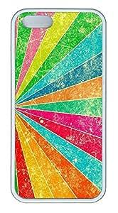iPhone 5 5S Case Patterns Rainbow 2 TPU Custom iPhone 5 5S Case Cover White