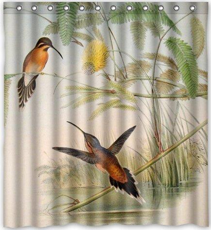 "Funny design Hummingbird Shower Curtain 66""(w) x 72""(h) G..."