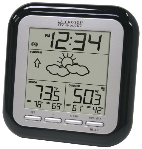 La Crosse Technology WS-9133BK-IT Wireless Forecast Station, Black