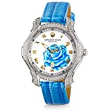 """JEANNIE ROSE  """"A Dozen Roses"""" Watches   40MM Women's Analog Watch   Light Blue on Whiteface A01"""