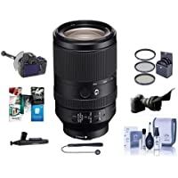 Sony FE 70-300mm f/4.5-5.6 G OSS E-Mount Lens - Bundle With 72mm Filter Kit, Flex Lens Shade, FocusShifter DSLR Follow Focus, Cleaning Kit, Lens Wrap, CapLeash, Lenspen Cleaner, Software Package