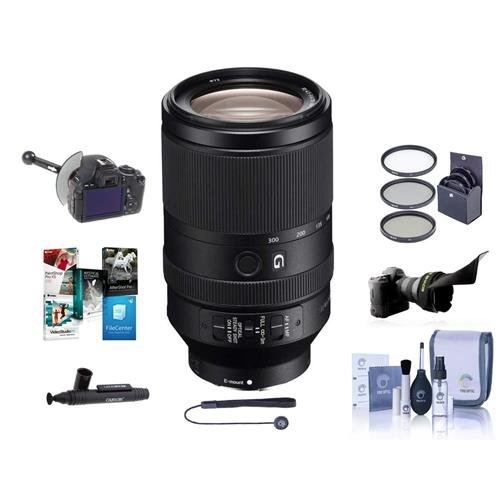 Bundle with 67mm Filter Kit Cleaning Kit Lens Wrap Sony FE 24mm F//1.4 GM PC Software Package Capleash II E Mount Lens G Master
