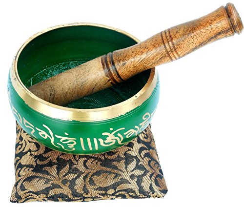 Lotus Notes 7 Download (Tibetan Meditation Buddhist Bell Brass Green Singing Bowl With Mallet)