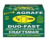 Arrow Fastener 858 Duo-Fast 5000 Series 1/2-Inch Staples, 5,000-Pack