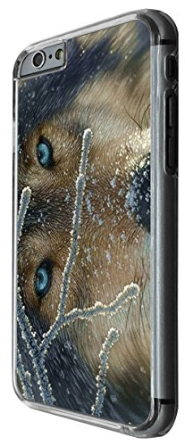 1113 - cool fun wolf blue eyes wildlife snow pet dog rare love Design For iphone 5 5S Fashion Trend CASE Back COVER Plastic&Thin Metal -Clear
