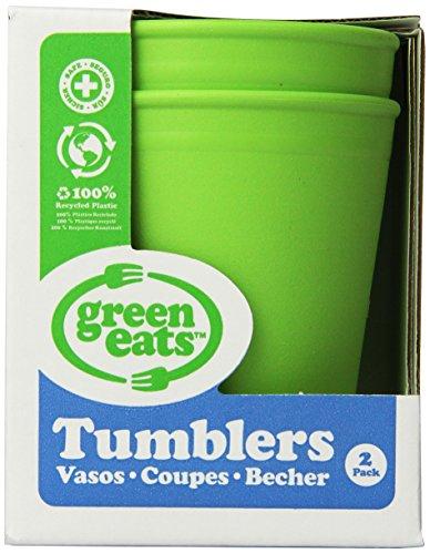 Green Eats 2 Pack Tumblers, Green