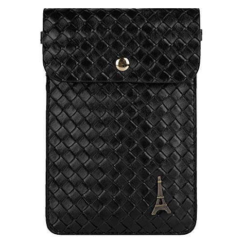 (Braid Woven Cellphone Crossbody Sling Pouch Bag Fit Nokia 9 PureView, 4.2, 3.2, 2 V, 8.1, 5.1 Plus, 6.1 Plus, 7.1 Plus, 7.1, Apple iPhone Xr, Xs Max, Xs, X, 8 Plus, 8, 7, 7 Plus)