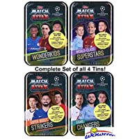 $69 » 2019/20 Topps Match Attax Champions League Soccer EXCLUSIVE Collectors Set of (4) MEGA TINS with 240 Cards Including Limited Edition Cards of…