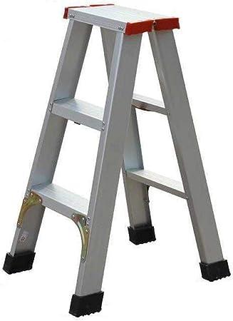 Escaleras de Mano Escalera de Aluminio Escalera Escalera Herringbone Ascendente Cubierta Pedal ático Plegable del hogar, Teniendo 150KG (Color : Silver, Size : 40 * 55 * 75cm): Amazon.es: Hogar