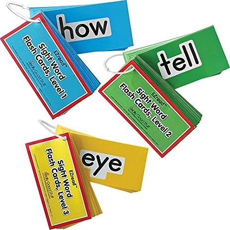 amazon com ezread fry sight word flash cards complete set home