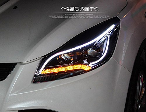 GOWE Car Styling for Ford Kuga Headlights 2014-2015 Escape LED Headlight DRL Bi Xenon Lens High Low Beam Parking Fog Lamp Color Temperature:6000k;Wattage:35w 3