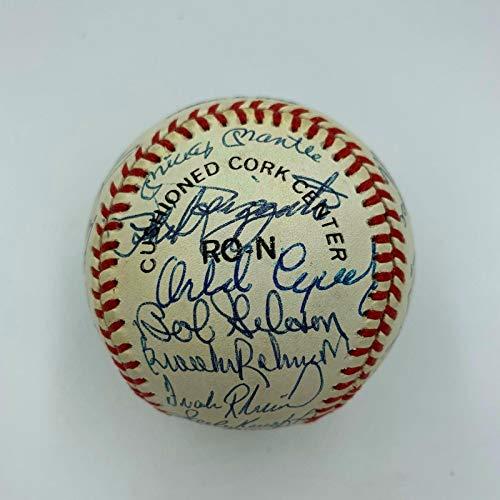 (Extraordinary MVP Winners Signed Baseball (25) Mickey Mantle Sandy Koufax - JSA Certified - Autographed Baseballs)