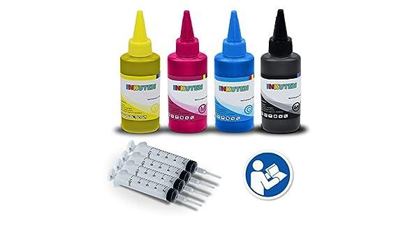 INKUTEN herramienta de recambio de tinta para HP 711 711 x l cartuchos de tinta 4 x 100ml Estados Unidos pigmento tinta Refill Kit – Compatible con HP DesignJet T120, T520 impresoras: