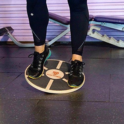 Balance Board Exercises Benefits: Fury Fitness Balance Board For Active Men & Women, Wobble