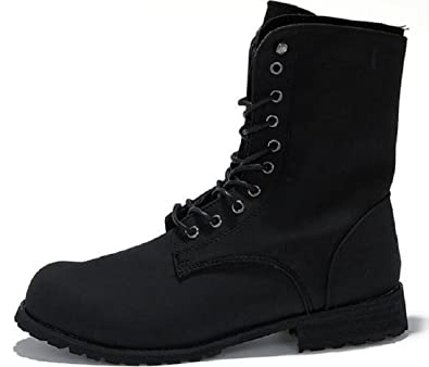 Amazon.com | Men's Retro Combat boots Winter England-style Chukka ...