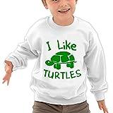 Puppylol Like This Turtles Kids Classic Crew-neck Pullover Sweatshirt White