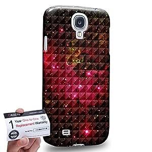 Case88 [Samsung Galaxy S4] 3D impresa Carcasa/Funda dura para & Tarjeta de garantía - Art Fashion Red Nebula Ombre Pattern