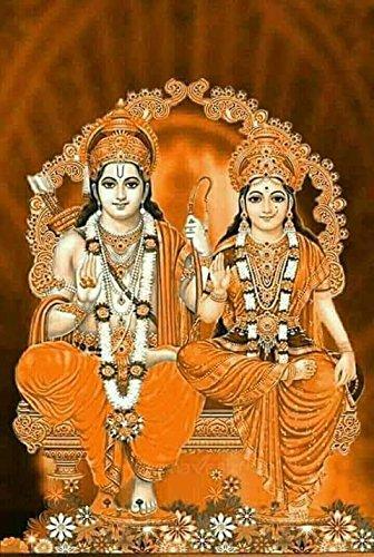 Samriddhi Laminated Picture Vinyl Gloss For Lord Shri Shri Ram Darbar With Sita Amazon In Home Kitchen