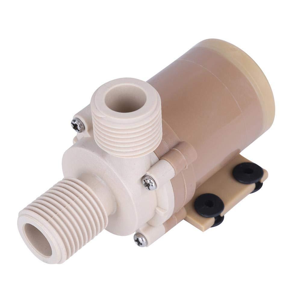 "Water Recirculating Pump, Quite 12V DC Solar 100℃ Hot Circulation Water Pump Brushless Motor 1/2"" Couplers"