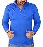 Black Collection Men's Plain Slim Fit T-Shirt (BCSA0001_Blue_Full_M)