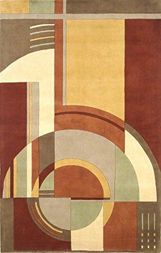 KAS Rugs 9134 Signature Art Deco Area Rug, 8 By 11 Feet, Rust