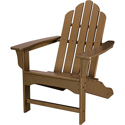 Hanover Outdoor Furniture HVLNA10TE All Weather Contoured Adirondack Chair, Teak - Adirondack Collection Teak Furniture