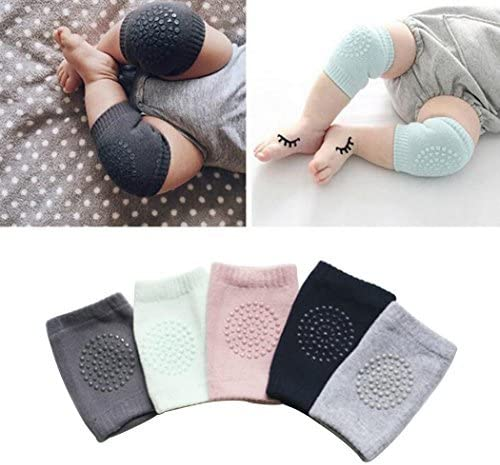 Hillento beb/é unisex rastreo antideslizante rodilleras ni/ño rodilla codo almohadillas rastreo proteter
