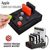 Avantree PowerHouse Desktop Multiple Devices USB Charging Station, 4 Port 4.5A Fast Charger Docking with Cable Management for iPhone iPad Tablets etc