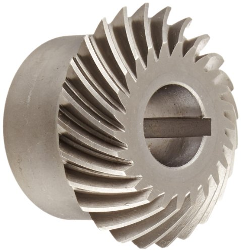 Boston Gear HLSK104YR Spiral Miter Gear, 35 Degree Spiral Angle, 1:1 Ratio, 0.875'' Bore, 10 Pitch, 25 Teeth, Steel with Hardened Teeth by Boston Gear