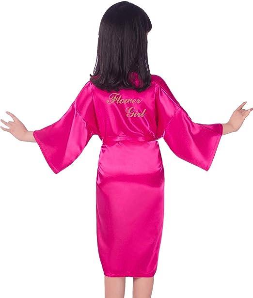 Hammia Vestido de Novia de Satén Robe Mujeres Corto Vestido de Dama de Honor Pijama de