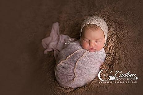 Judette shell stitch mohair vintage bonnet newborn hat photography prop baby props newborn prop