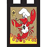 Cheap Crawfish Gourmet Chef 18 x 13 Rectangular Burlap Double Applique Small Garden Flag