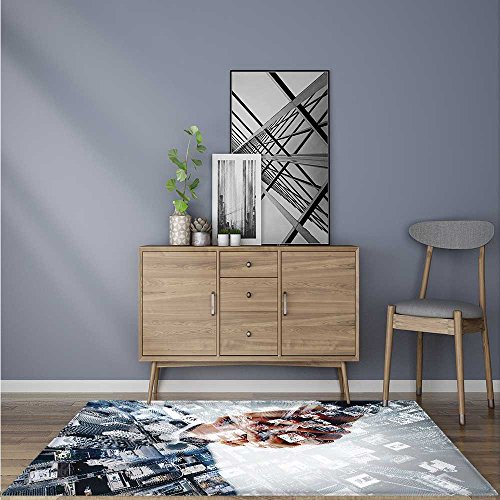 b11f809fc9 Extra Thick Comfortable Rug Business Cooperation Handshake for Living Room  Dining Room Family 5  X