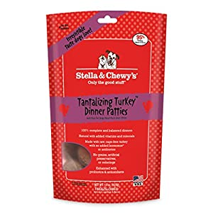 Stella & Chewy's Freeze-Dried Raw Tantalizing Turkey Dinner Patties Grain-Free Dog Food, 15 oz bag