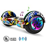 jolege Hoverboard Bluetooth 6.5 inch Self Balancing Hoverboards for Kids with LED Flahing Lights-UL2272 Certified