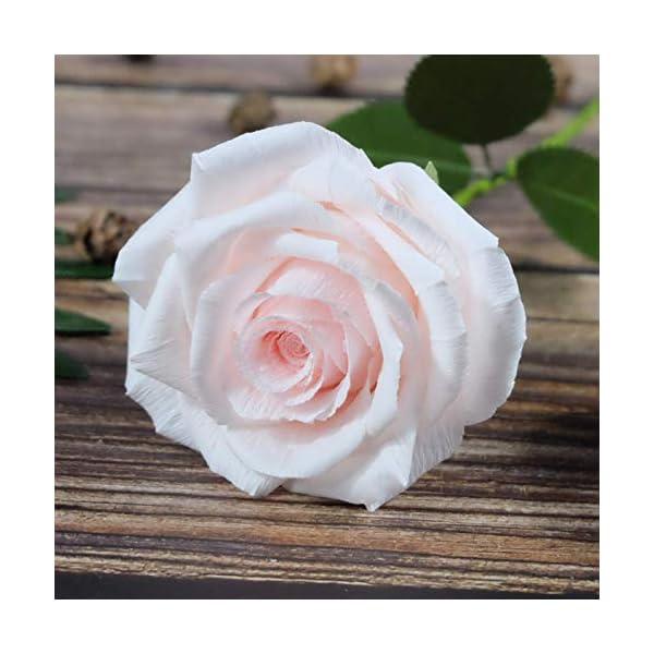 Blush-Pink-Paper-Rose-Handmade-Art-Crepe-Paper-Flowers-for-Home-decorations-Wedding-bridesmaids-bouquets-Single-Long-Stem