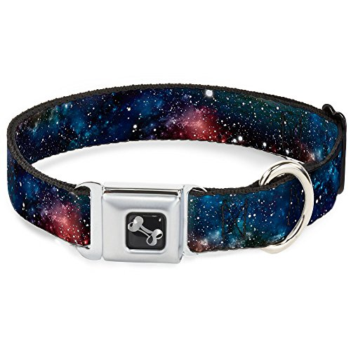 Buckle-Down Seatbelt Buckle Dog Collar - Space Dust Collage - 1