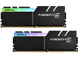 G.SKILL 16GB (2 x 8GB) TridentZ RGB Series DDR4 PC4-23400 2933MHz Desktop Memory Model F4-2933C16D-16GTZRX