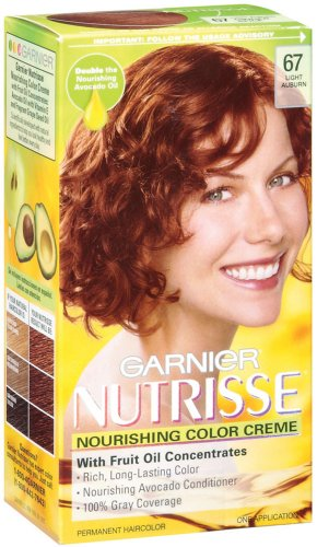 Garnier Nutrisse Haircolor, 67 Light Auburn Ginger Spice