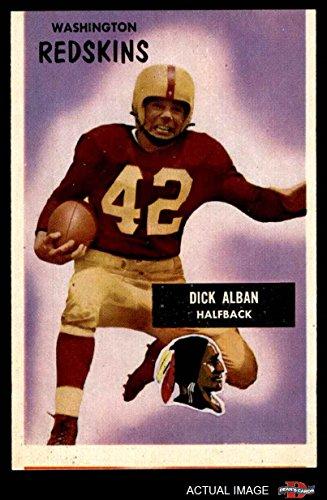 1955 Bowman # 12 Dick Alban Washington Redskins (Football Card) Dean
