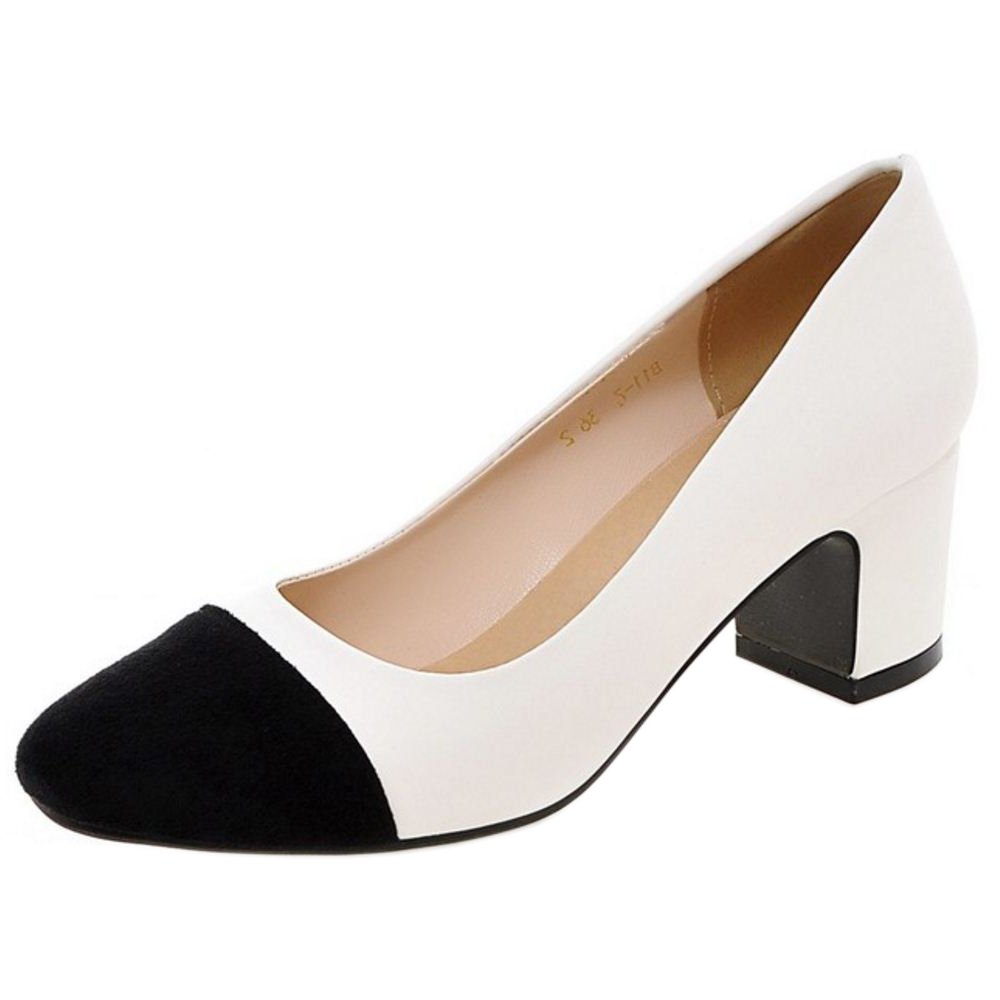 Zanpa Damen Mode Pumps Mid Heel33 EU|2#white