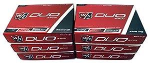 Wilson 6 Dozen NEW 2015 Staff DUO Spin Golf Balls 72 Balls - White by Wilson Staff