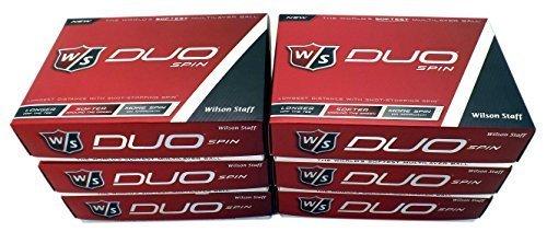 6 Dozen NEW 2015 Wilson Staff DUO Spin Golf Balls 72 Balls - White